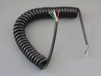 przewód spiralny 7 żył - 7x075mm 4m kubix