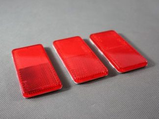 odblask czerwony przyklejany kubix