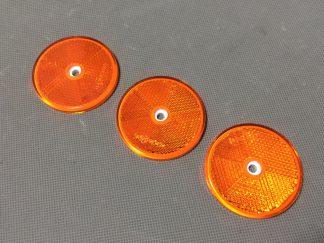 odblask pomarańczowy okrągły z otworem kubix