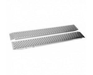 Rampy najazdowe 200 x 1500 mm, 200 kg/szt. 400kg/para, aluminium, z profilem